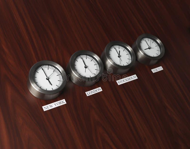 Differenza di tempo immagini stock