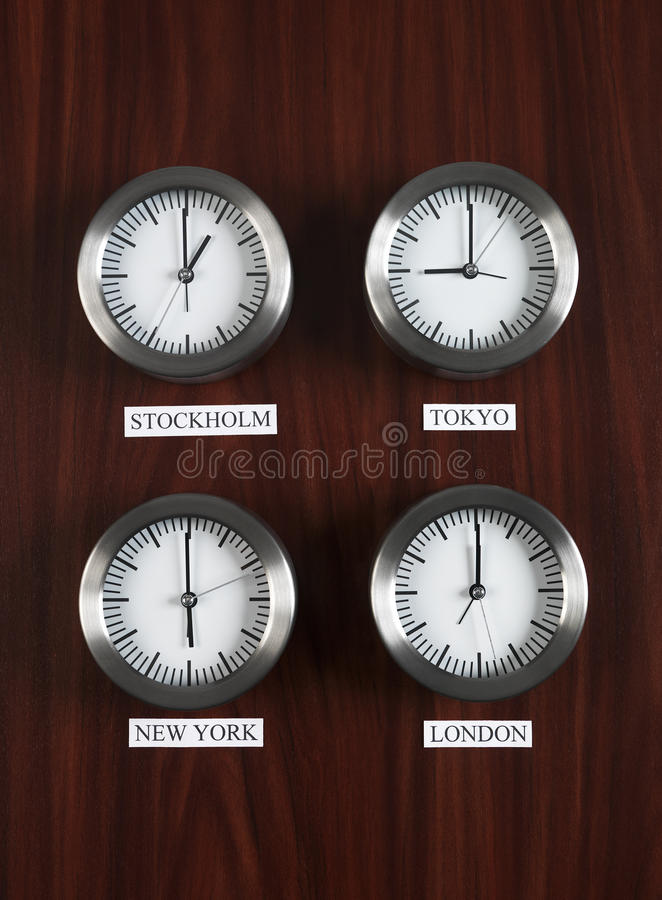 Differenza di tempo fotografie stock libere da diritti