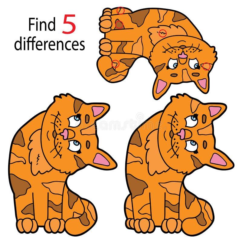 Differenze del gattino illustrazione vettoriale