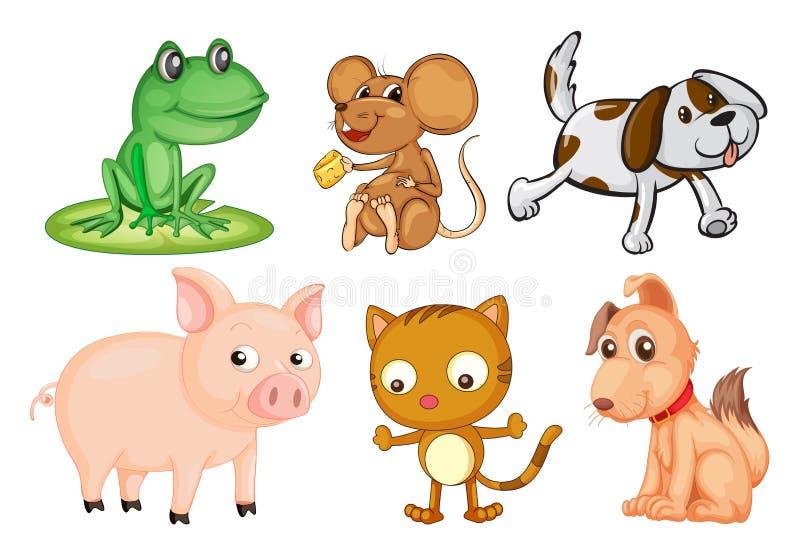Differrentsoorten landdieren royalty-vrije illustratie
