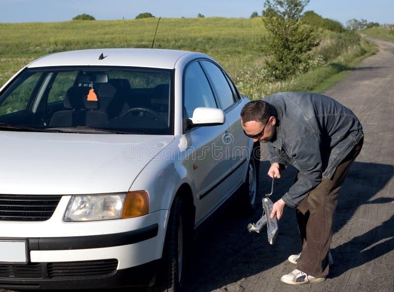 Difficoltà dell'automobile immagine stock