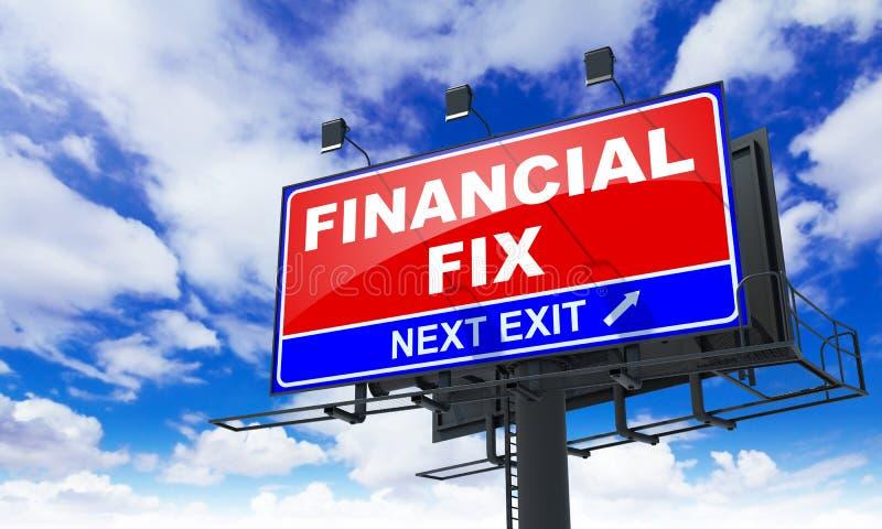 Difficulté financière sur le panneau d'affichage rouge images stock