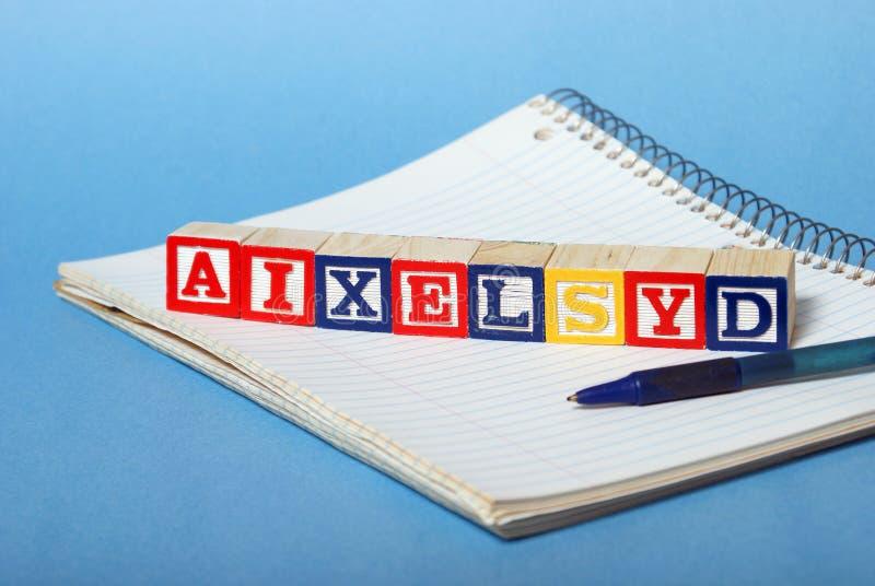 Difficultés de dyslexie photos libres de droits