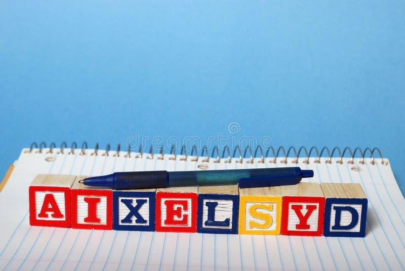 Difficultés de dyslexie photos stock