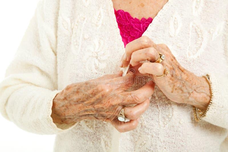 Difficultés de l'arthrite images stock