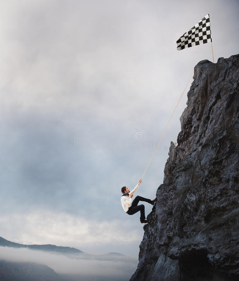 Difficult career and achievement business goal royalty free stock images