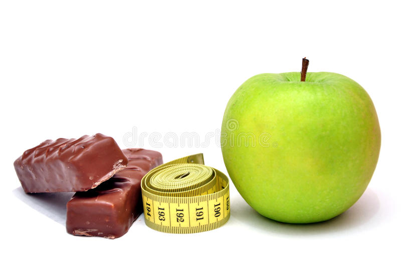 Difficult Choice Diet Royalty Free Stock Images