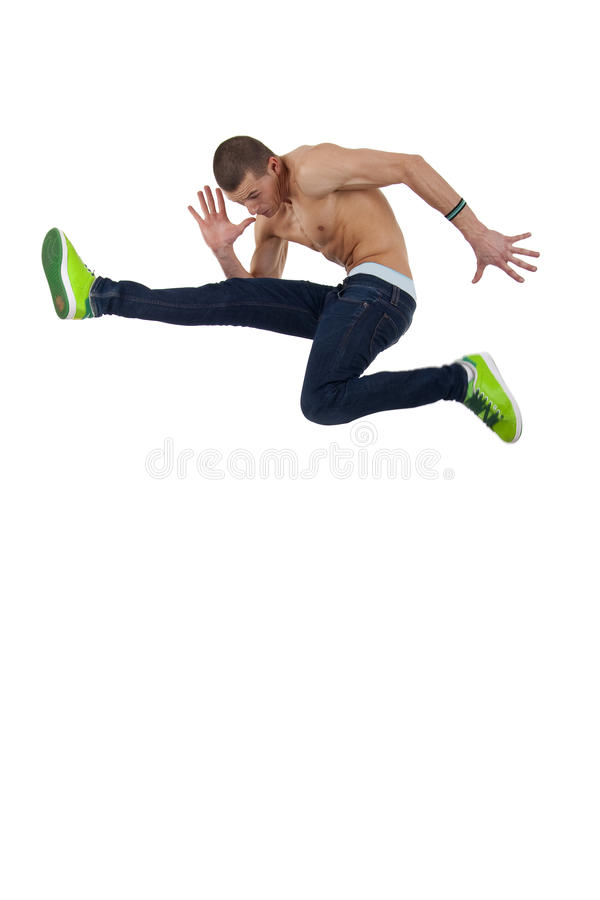 Difficult Jump Stock Photography