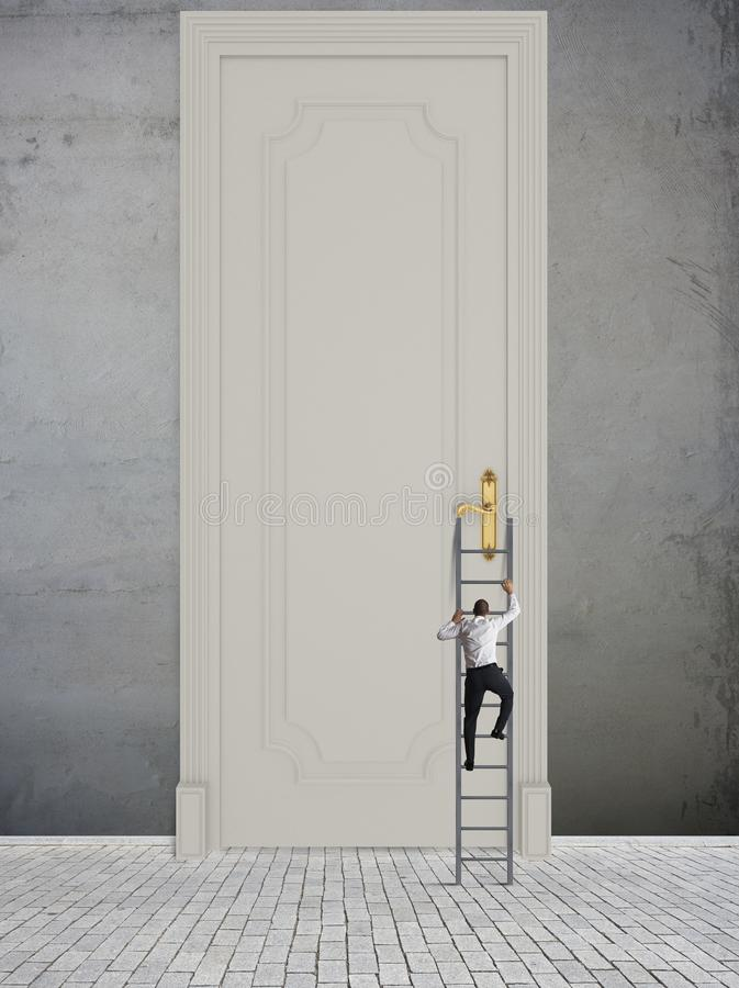 Difficult opportunity. Concept of difficult opportunity and career in business royalty free stock image
