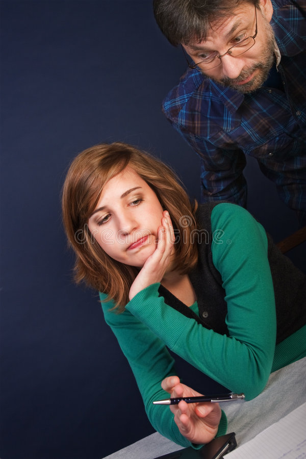 Difficult task stock photography