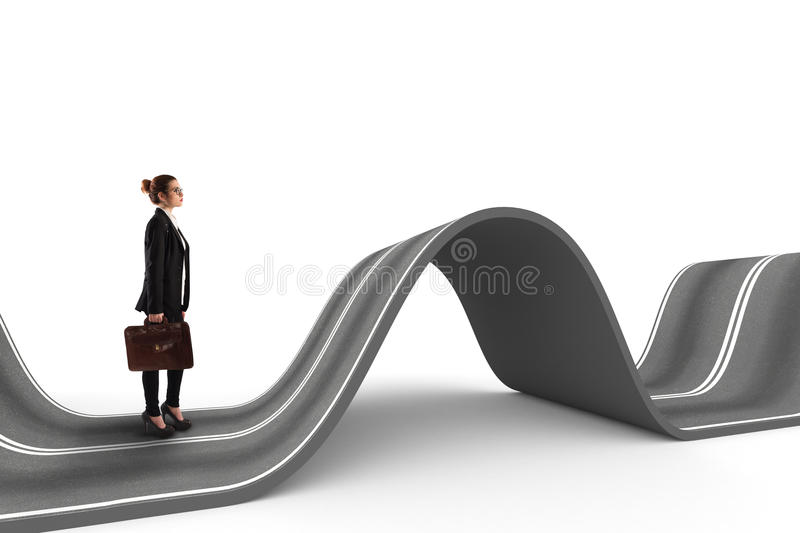 Difficult way . 3D Rendering stock image