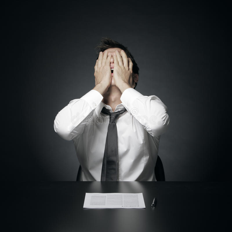 Difficulties at work royalty free stock images