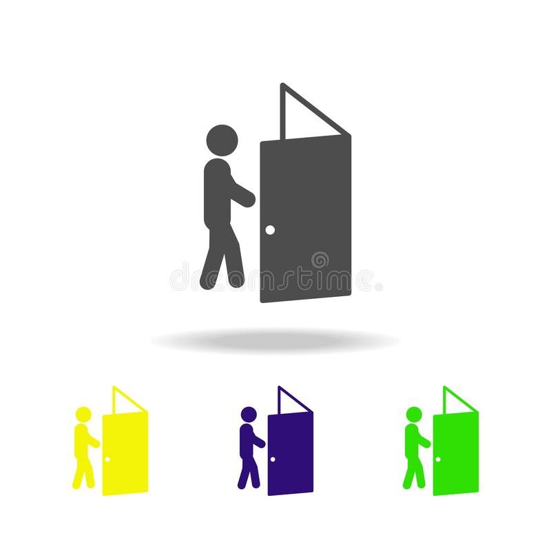 The difficulty is overcome colored icons. Element of overcome challenge illustration. Signs and symbols collection icon for. Websites, mobile app on white royalty free illustration
