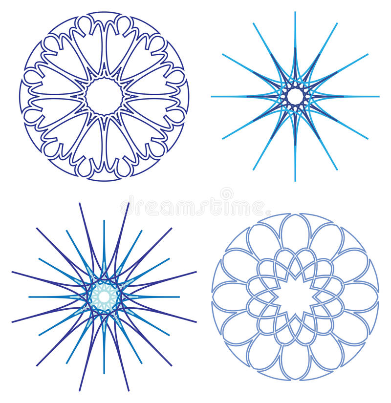 Diffrent snowflakes vector stock illustration