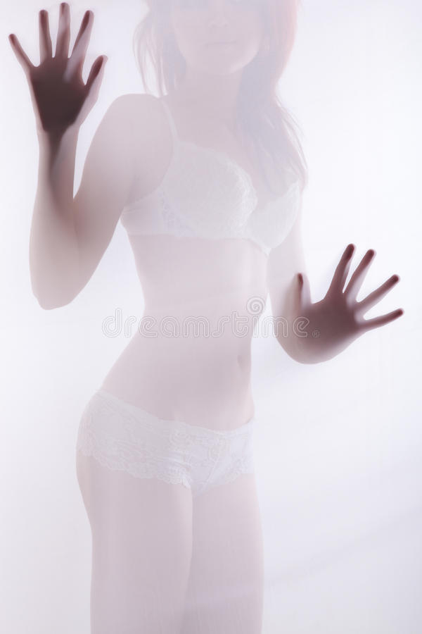 Diffuse woman shape royalty free stock image