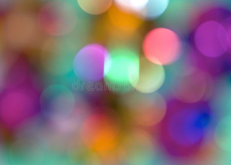 Diffused Highlights. Diffused circular multi coloured highlights royalty free stock photos