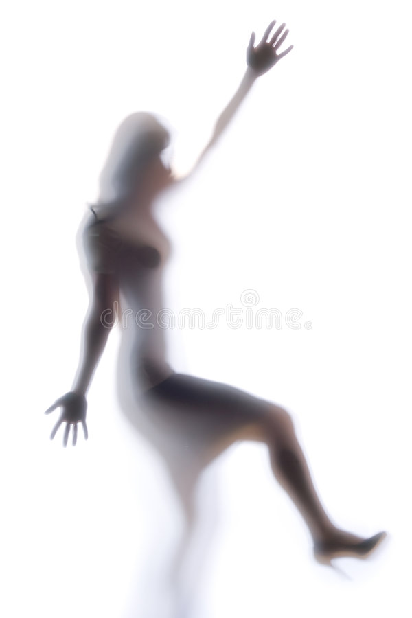 Download Diffused Silhouette Of A Woman Stock Image - Image: 8832063