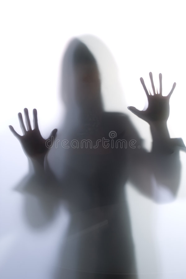 Diffused Silhouette of a woman stock photos