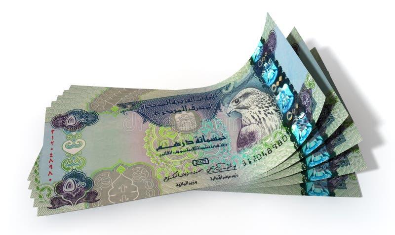 Diffusion de billets de banque de dirham image stock