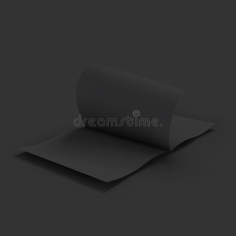 Diffusion vide noire de magazine Maquette d'affaires illustration stock