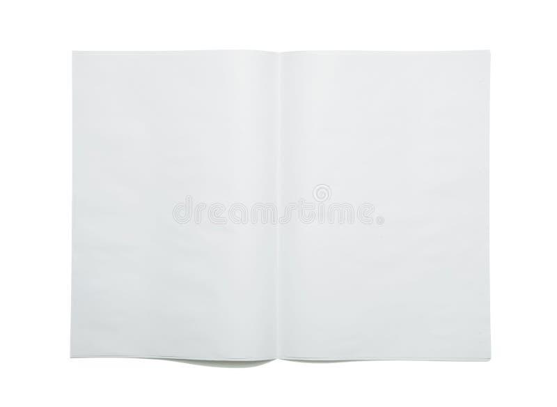 Diffusione in bianco del giornale fotografia stock