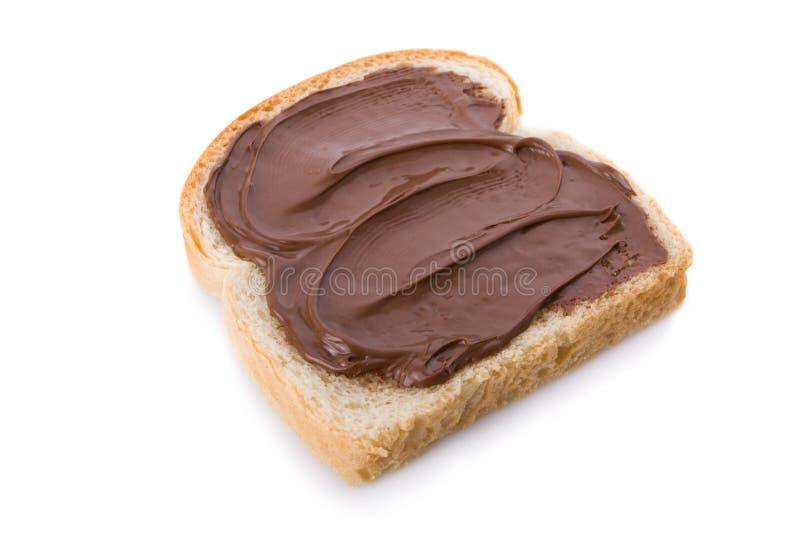 Diffusione del cioccolato e della nocciola fotografia stock libera da diritti