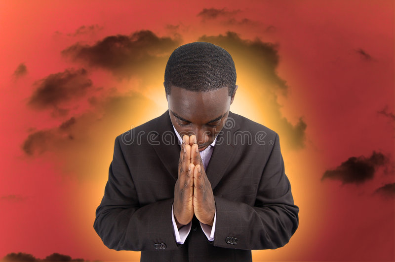 Dificuldade espiritual imagens de stock