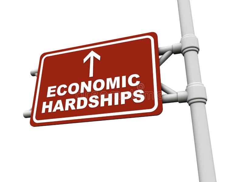 Dificultad de la recesión económica stock de ilustración