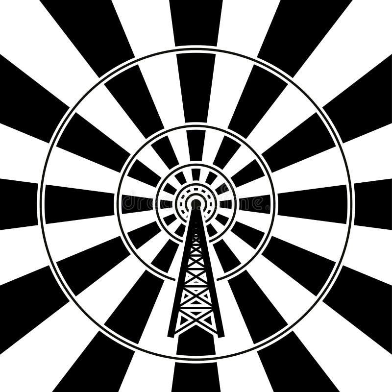 Difusión de la torre de radio libre illustration