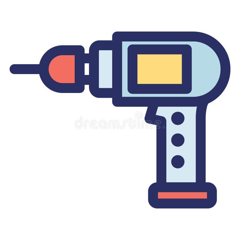 Dig machine, wierć wyizolowaną ikonę Vector, którą można łatwo zmodyfikować lub edytować ilustracji