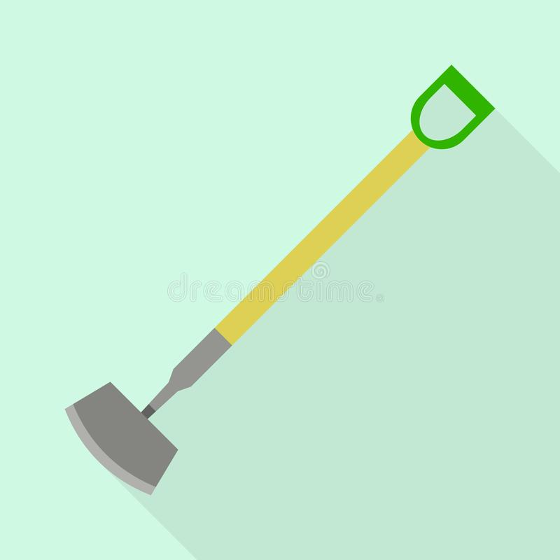 Dig shovel icon, flat style. Dig shovel icon. Flat illustration of dig shovel vector icon for web design stock illustration