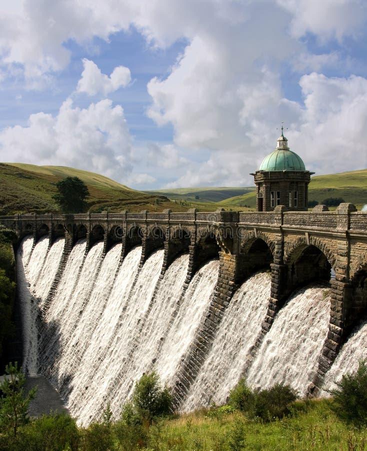 Diga del Craig Goch. Valle di slancio - Galles fotografie stock