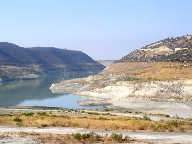 Diga dell'acqua di Limassol fotografia stock
