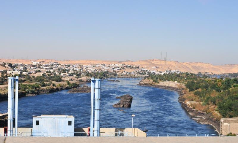 Diga di Assuan, Egitto immagini stock