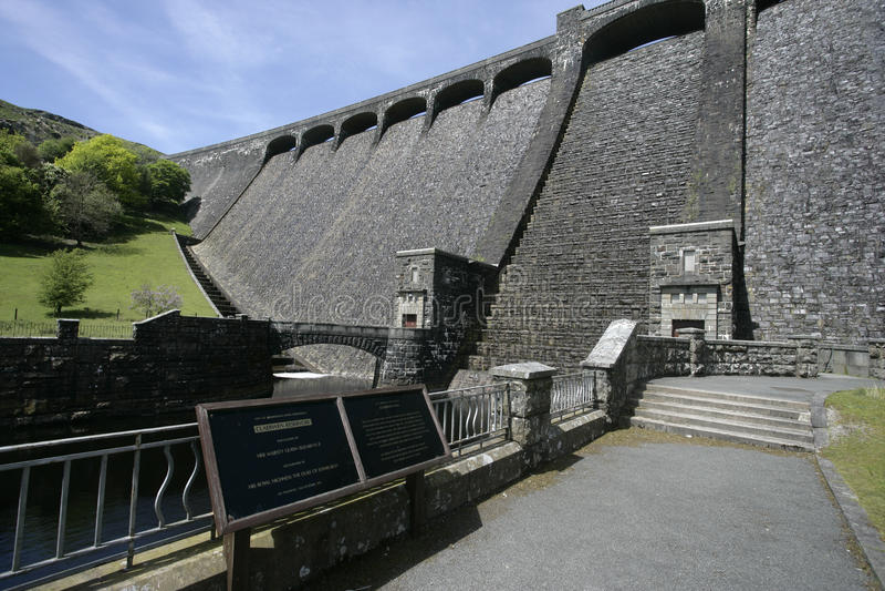 Diga di Claerwen, Elan Valley, immagine stock libera da diritti