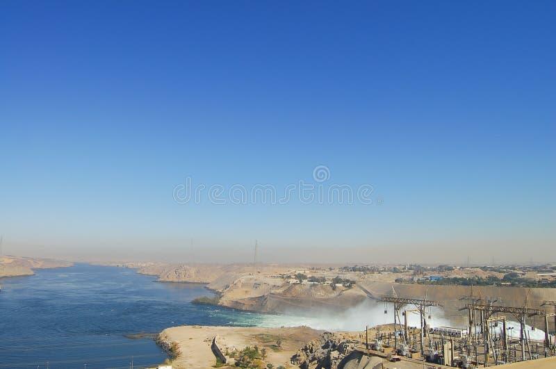 Diga di livello di Assuan - Egitto fotografia stock libera da diritti