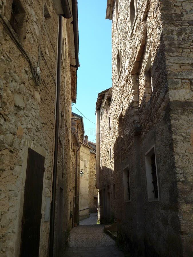 Diga di Vajont - villaggio di Casso fotografia stock