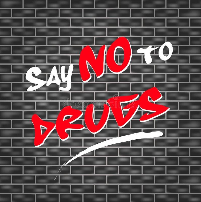 Diga NO a las drogas stock de ilustración