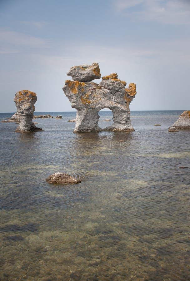 digerhuvud γεωλογικό rauk σχηματισμ&o στοκ φωτογραφία