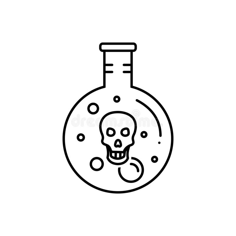 Black line icon for Digestion, acid and gastric royalty free illustration