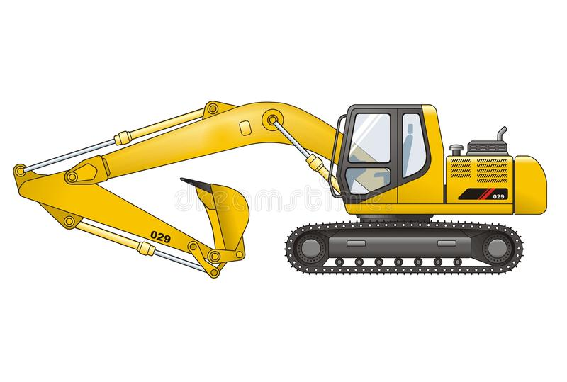 Download Digger stock vector. Image of metal, excavating, isolated - 26860129