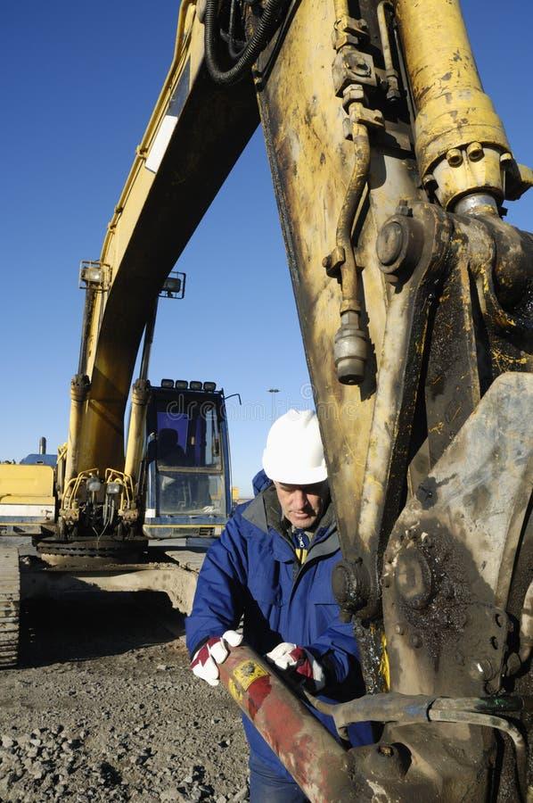 Download Digger And Driver Close-ups Stock Photo - Image: 3557804