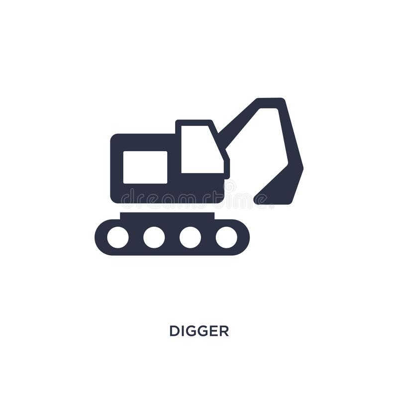 Free Digger Icon On White Background. Simple Element Illustration From History Concept Royalty Free Stock Photography - 141665297