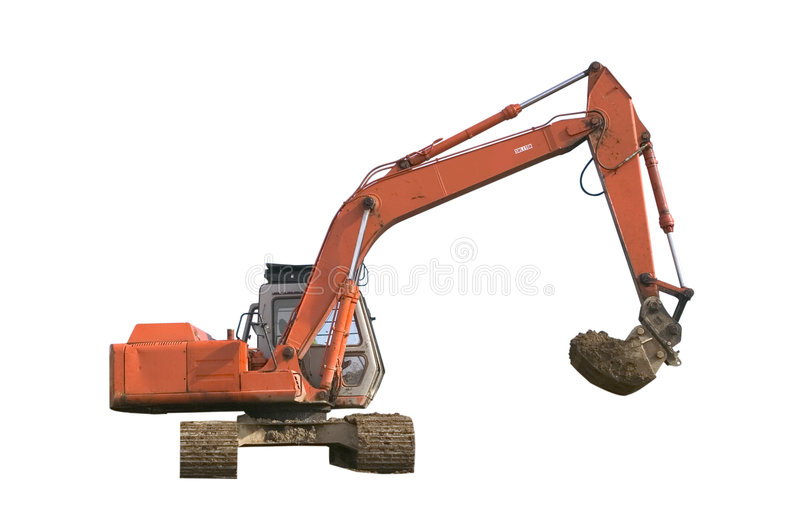 Download Digger Isolated stock photo. Image of machine, landscape - 2099672