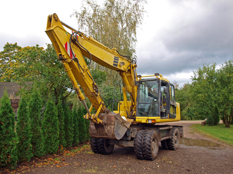 Download Digger on road stock photo. Image of excavator, country - 27086324