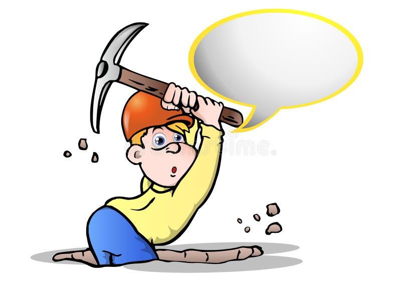 Download Digger talk stock illustration. Image of hardhat, street - 18178563