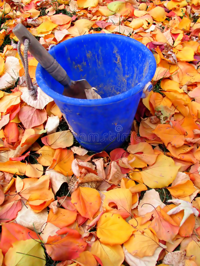 Digging Leaves stock images