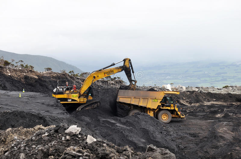 Digging out the coal royalty free stock photos