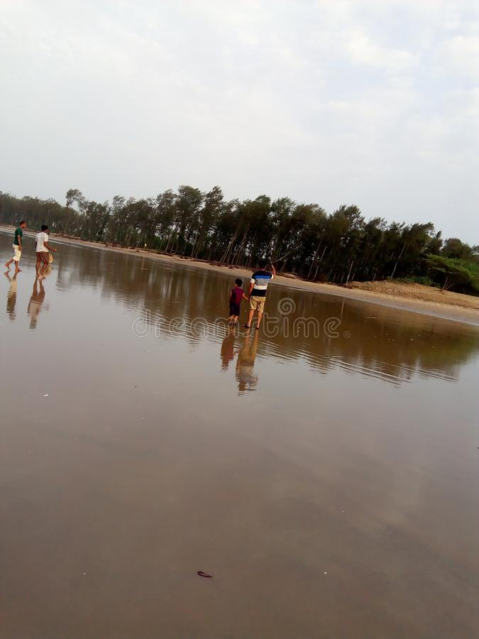 Digha at noon time to sea beach royalty free stock photography