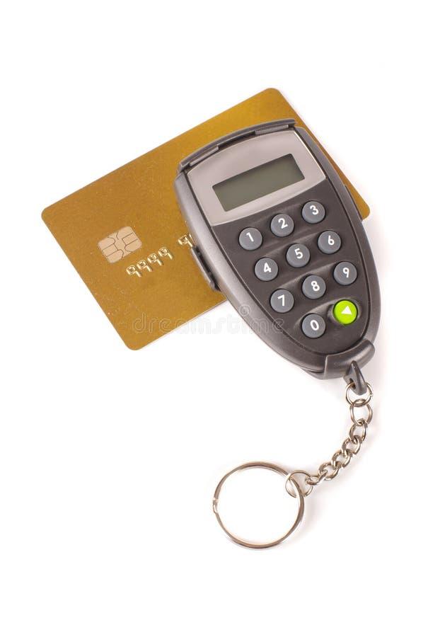 Digipass et carte de crédit photographie stock